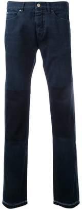 Lanvin contrast knee jeans