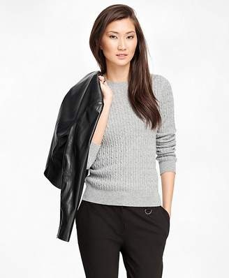 Cashmere Cable Crewneck Sweater $398 thestylecure.com