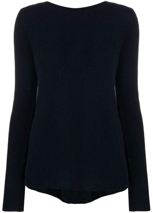 Semicouture laced back asymmetric sweater