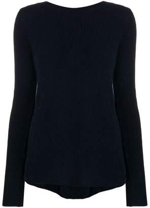 Semi-Couture Semicouture laced back asymmetric sweater