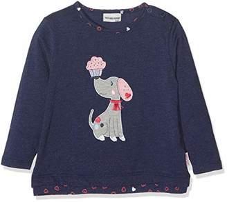 Salt&Pepper SALT PEPPER Baby Girls' B Longsleeve Mon Amie Rüschen T-Shirt, (Crown Blue Melange 486), 18-24 Months