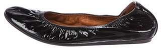 Lanvin Patent Leather Round-Toe Flats