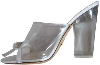 Prada White Plastic Heels