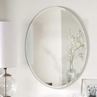 Décor Wonderland Decor Wonderland Odelia Oval Bevel Frameless Wall Mirror 22 inx28 in