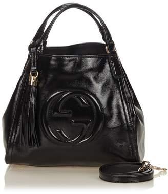 Gucci Vintage Patent Soho Top Handle Bag