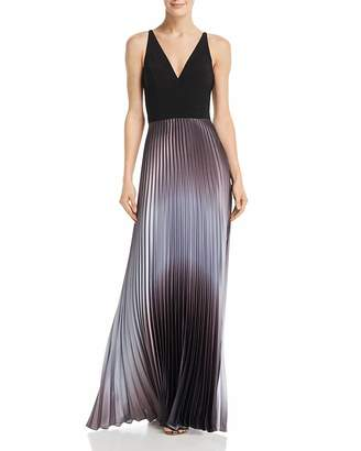 740e2269 Aqua Pleated Shimmer Gown - 100% Exclusive