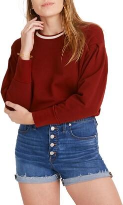 Madewell High Waist Button Front Denim Shorts