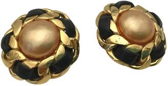 Chanel Vintage Orange Gold plated Earrings