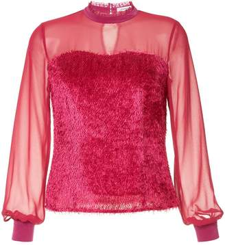 GUILD PRIME sheer fringed blouse