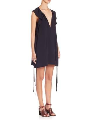 Chloé Women's Ruffled Cady Tie Dress