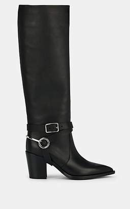 Gianvito Rossi Women's Harness-Strap Leather Knee Boots - Black