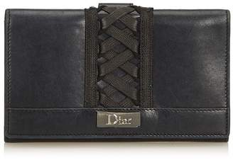 Christian Dior Vintage Leather Corset Long Wallet