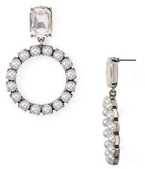 Aqua Crystal Circle Drop Earrings - 100% Exclusive