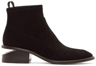 Alexander Wang Black Suede Kori Boots