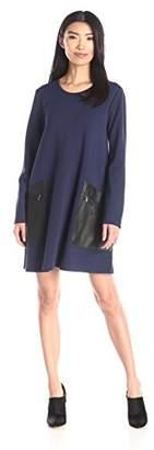 BCBGMAXAZRIA Women's Farah Long Sleeves A-Line Dress