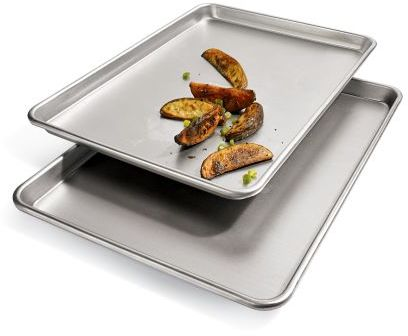 Chicago Metallic Commercial Jelly Roll Pans, Set of Two