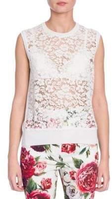 Dolce & Gabbana Sleeveless Lace Top