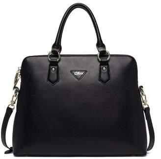 Cluci Women's Cow Leather Handbags Briefcase Purse Shoulder Bags Tote Bags Blue