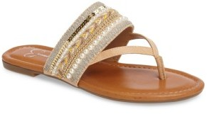 Women's Jessica Simpson Ronette Embellished Flip Flop $68.95 thestylecure.com