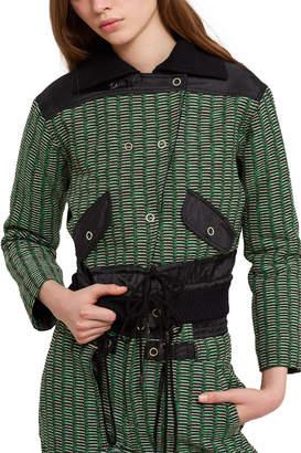 Opening Ceremony Tweed Nylon Jacket