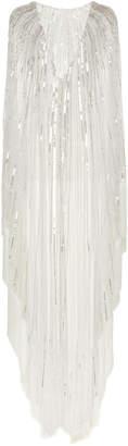 Alberta Ferretti Tulle Embellished Poncho Dress