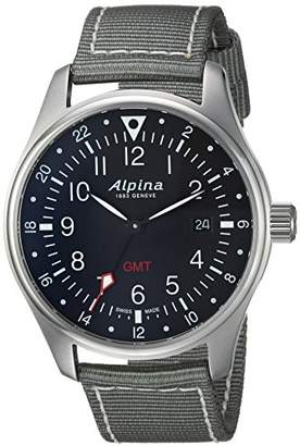 Alpina Men's 'Startimer' Swiss Quartz Stainless Steel and Nylon Casual Watch