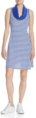 Three Dots Cowl Neck Stripe Dress $88 thestylecure.com