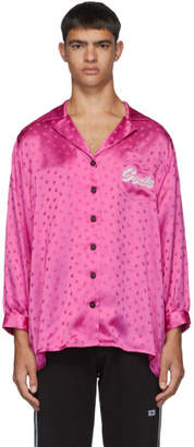GCDS Pink Heart Logo Shirt