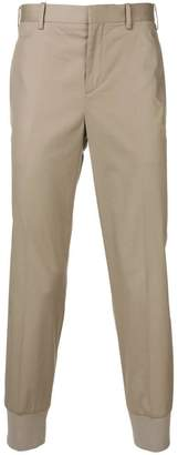 Neil Barrett gathered ankle chinos