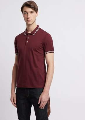Emporio Armani Cotton Pique Polo Shirt