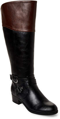 Unisa Black & Tan Untinnaz Wide Calf Riding Boots