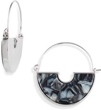 Halogen Resin Crescent Hoop Earrings