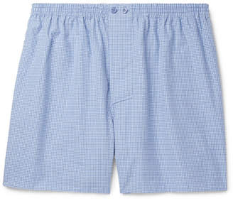 Zimmerli Gingham Cotton Boxer Shorts