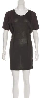 Acne Studios Mini Short Sleeve Shirtdress Grey Mini Short Sleeve Shirtdress