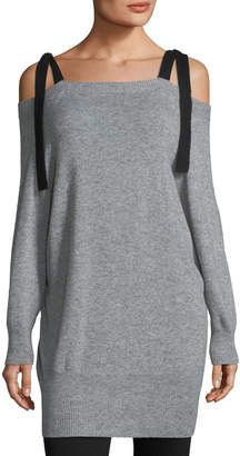 Halston Cashmere-Blend Off-the-Shoulder Sweater