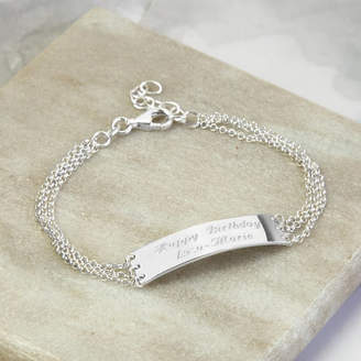 15ed62d010553 Martha Jackson Sterling Silver Sterling Silver Engravable Chain Bracelet