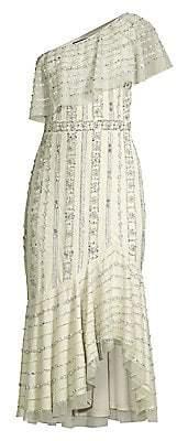 Aidan Mattox Women's Sequin Ruffle Cocktail Dress - Size 0