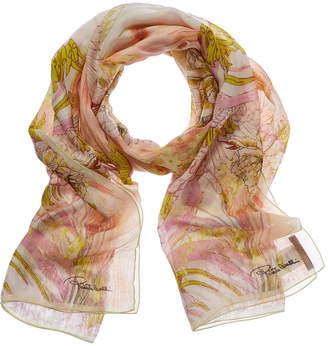 Roberto Cavalli Silk-Blend Scarf