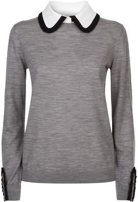 Claudie Pierlot Pleat Collar Sweater