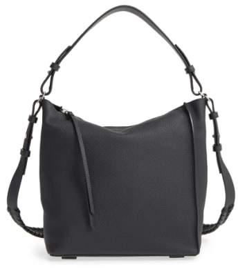 Allsaints 'Kita' Leather Shoulder/crossbody Bag - Black
