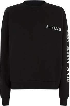 Alexander Wang Textured Logo Sweatshirt