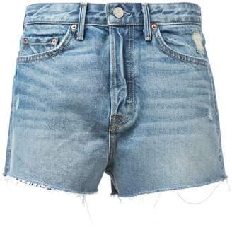 GRLFRND Cindy distressed denim shorts