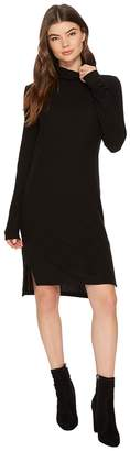 Heather Brushed Hacci Long Sleeve Dress Women's Dress