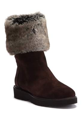 Aquatalia Kathy Suede Faux Fur Boot