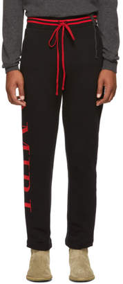 Amiri Black Striped Lounge pants