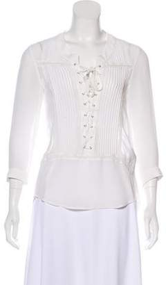 The Kooples Silk Long Sleeve Blouse