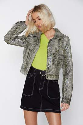 Nasty Gal Serpent the Day in Bed Snake Jacket