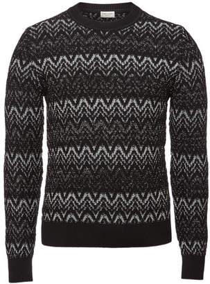 Saint Laurent Wool Pullover with Metallic Thread