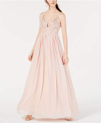 8b193f19342b Speechless Juniors' Embellished Chiffon Gown