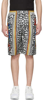 Dolce & Gabbana Multicolor Printed Brush Stroke Shorts